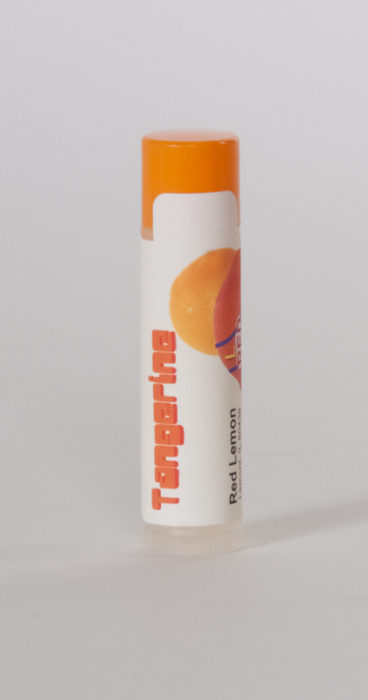 Tangerine Lip Balm Tube. Chapstick. Chapped Lip Relief
